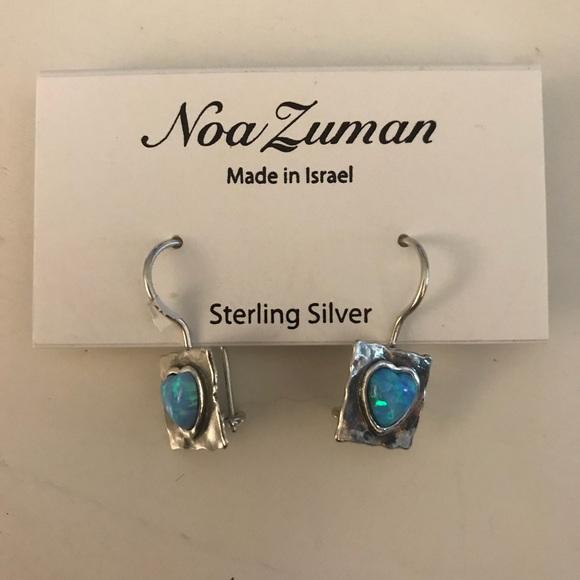 d42ceb949 Noa Zuman Jewelry | Opal 925 Heart Earrings | Poshmark